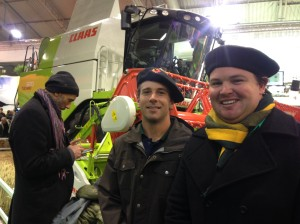 Tom Quigley and I in front of a Claas 320