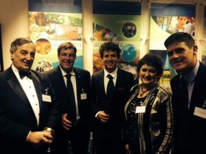 Meurig Raymond, Andrew Johnson, Hilary Raymond, myself and Michael Craig