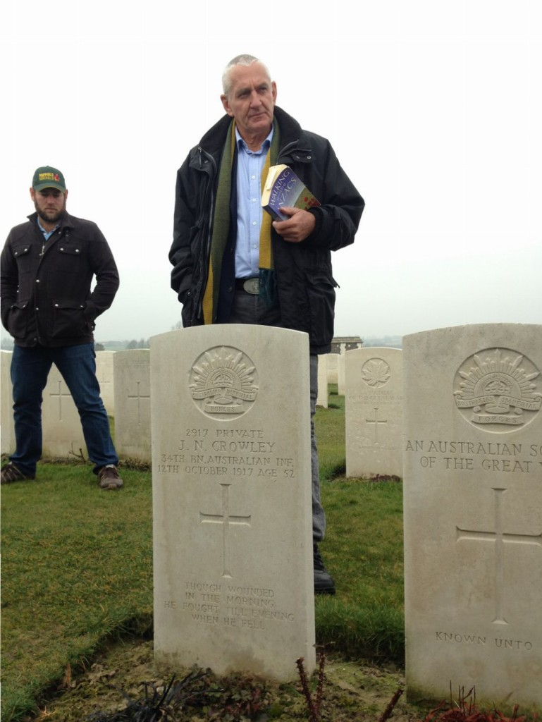 Jim Geltch and Matt Mcveigh, Passchendaele Memorial, Belgium